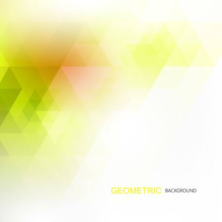 Green and yellow natural abstract polygonal background for your design eps10