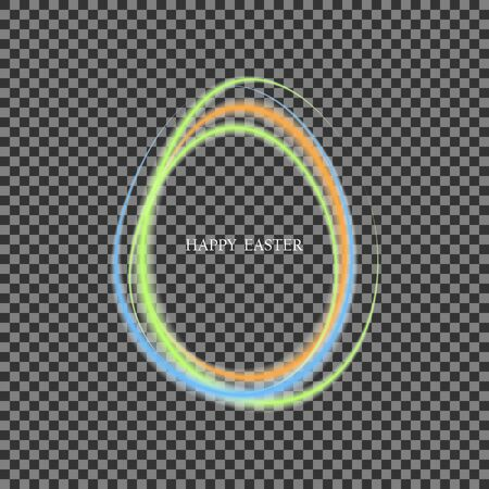 Blue green circle frame. Abstract flow of transparent vector waves in the shape of a circle.