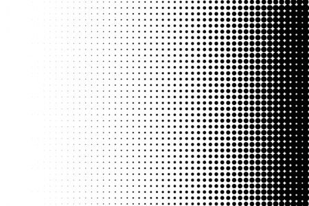 Abstract halftone. Black dots on white background. Halftone background.