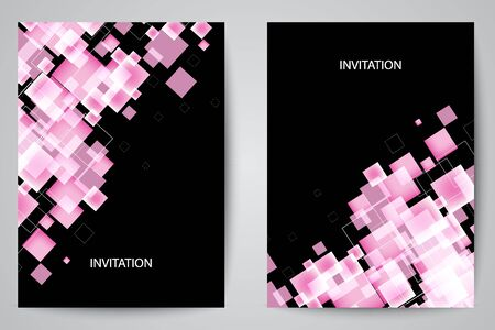 Modern abstract background with squares eps10 Çizim