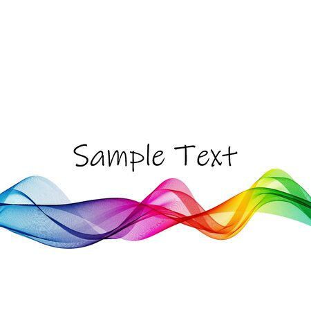 Abstract rainbow wave vector background, horizontal wavy colored wave lines on a white background eps10 Vettoriali