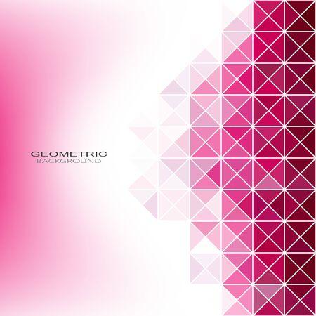 Motif géométrique abstrait. Fond de triangles roses.