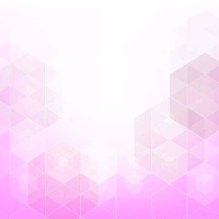 Light Pink vector texture with colorful hexagons. Design in abstract style with hexagons. Pattern can for your ad, booklets. Ilustração Vetorial