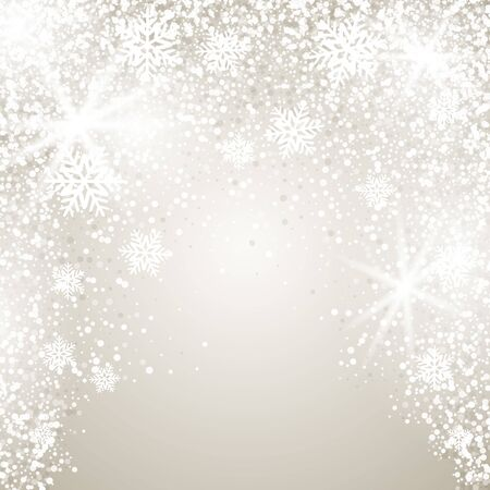 Elegant Christmas background with snowflakes and place for text. Vector Illustration. Vektorgrafik