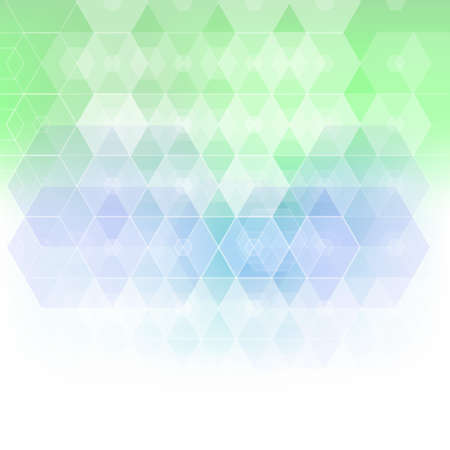 Blue and green colored geometric vector pattern background
