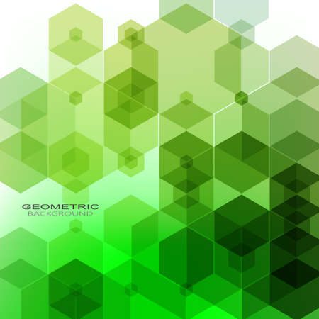 Vector Abstract geometric background. Template brochure design. Green hexagon shape eps10 Vetores