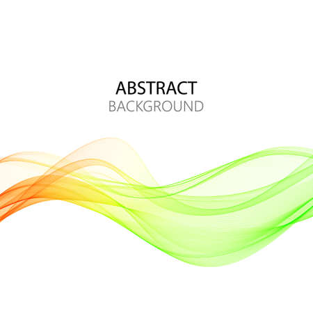 Abstract colourful wave isolated on white background. Vector illustration for modern business design. Futuristic wallpaper. Cool element for presentation, card, flyer and brochure.