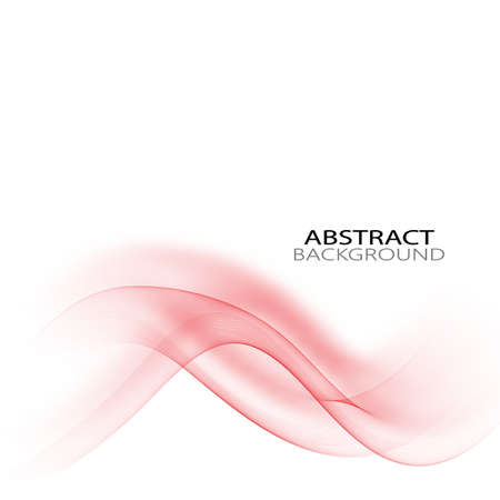 Abstract colourful wave on white background. Vector illustration for modern business design. Futuristic wallpaper. Cool element for presentation, card, flyer and brochure.