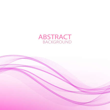 Abstract elegant lilac wave vector design background Vettoriali
