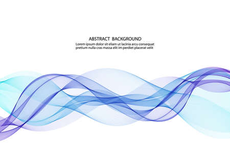 abstract blue business technology colorful wave vector background