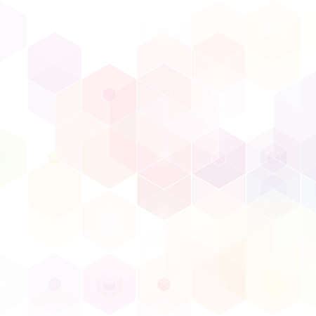 Light Pink vector texture with colorful hexagons. Design in abstract style with hexagons.