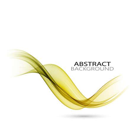 Abstract vector background, green transparent waved lines for brochure, website, flyer design.