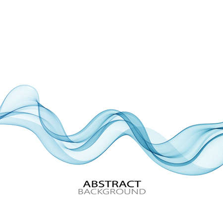 Horizontal blue water wave on abstract background Ilustracja