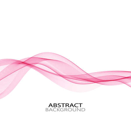 Abstract vector wave on white background purple curves. Vettoriali