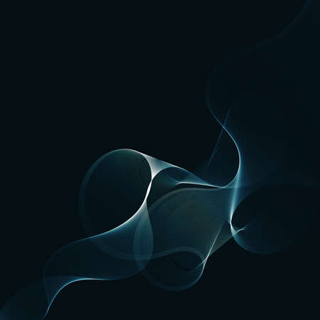 abstract neon blue line wave background vector illustration