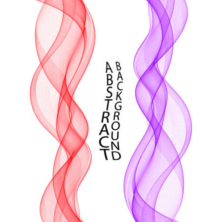 Set of colored transparent waves. vector wavy waves. Design element