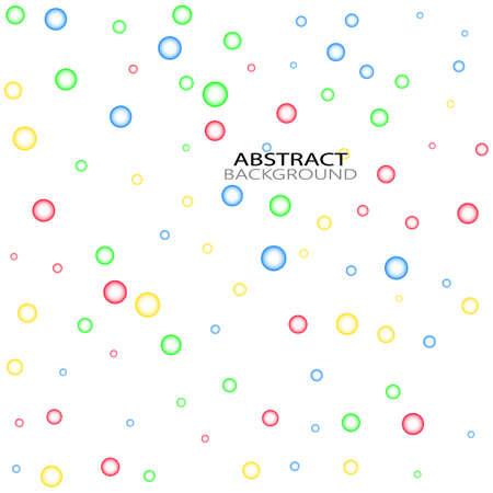 Bubbles Circle Dots Unique Color Bright Vector White Background
