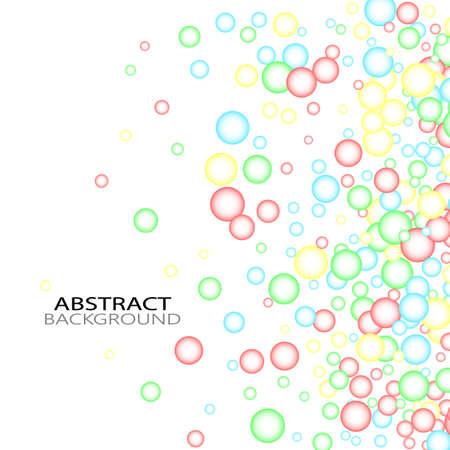 Bubbles Circle Dots Unique Color Bright Vector White Background Illusztráció