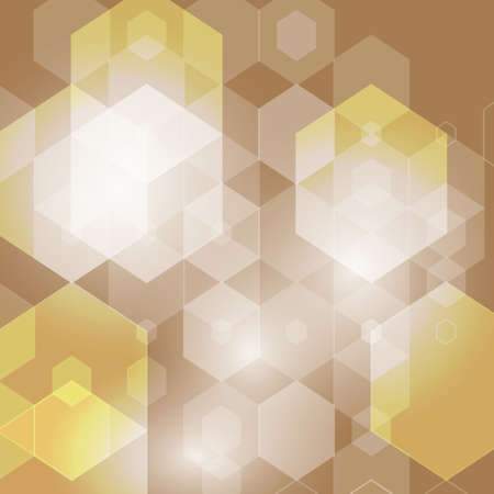 Template Design , Geometric modern brown Hexagon abstract background eps10
