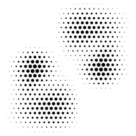 Halftone design background. Monochrome halftone pattern. Abstract geometric dots background. Vetores