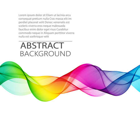 Vector Abstract smoky transparent waves background. Template brochure design Vector Illustration