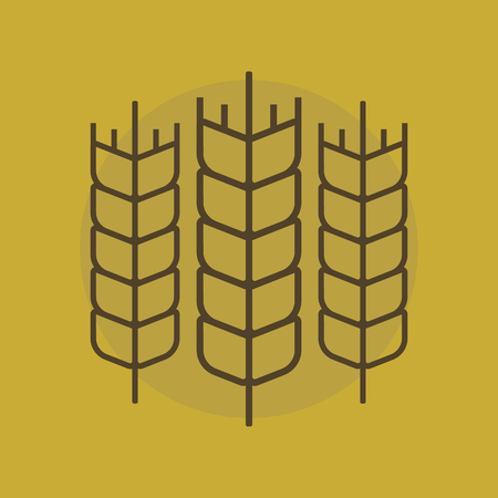 harvesting rice: Wheat sign.