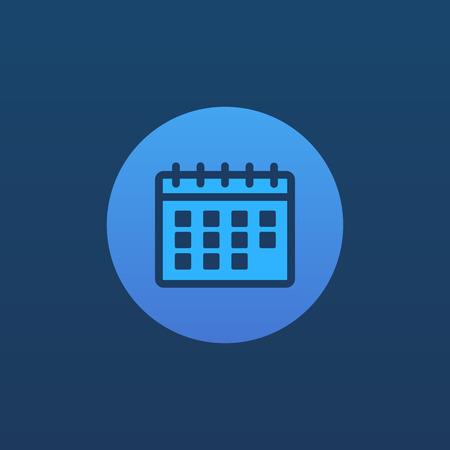 calendar icon: Calendar icon. Calendar sign and symbol in flat style. Calendar .