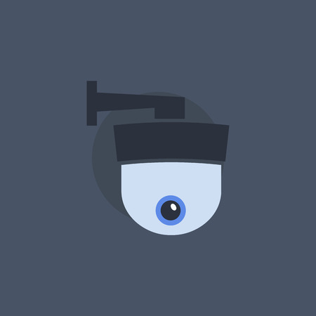 security symbol: Security camera symbol. Security camera concept in flat style. Security camera sign. Security camera icon