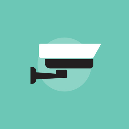 security symbol: Security camera icon. Security camera sign in flat style. Security camera symbol