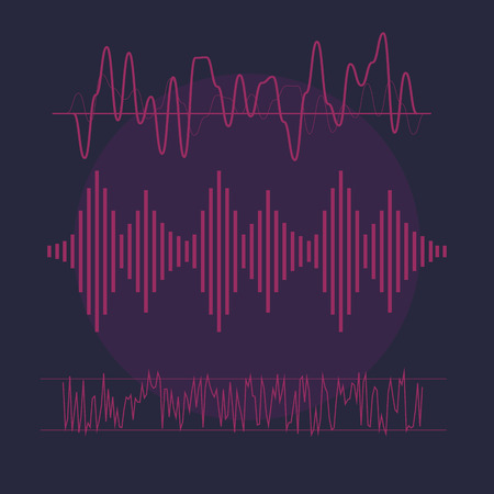 vibrations: Sound waves concept. Sound waves . Sound waves sign and symbol in flat style