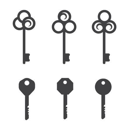 personal ornaments: Key vector icons