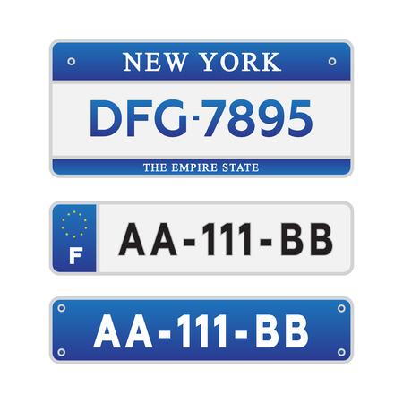 Licentie auto nummerplaten