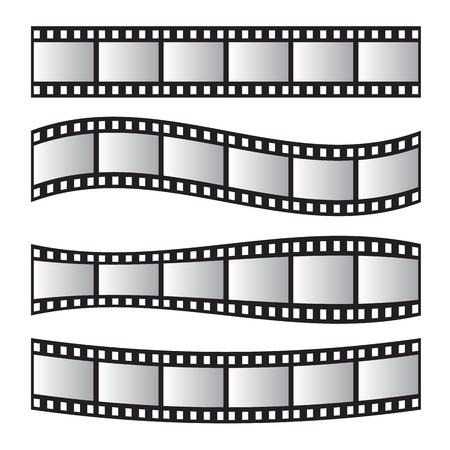 35mm: Film roll vector, film 35mm, slide film frame set. Negative and strip, media filmstrip