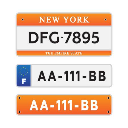 License car number plates