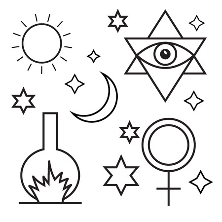 occultism: Alchemy, spirituality, occultism, chemistry, magic symbols