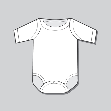 sleeve: Short Sleeve Infant Bodysuit Illustration