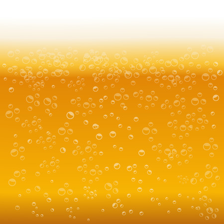 vesicles: Beer foam background vector illustration Illustration