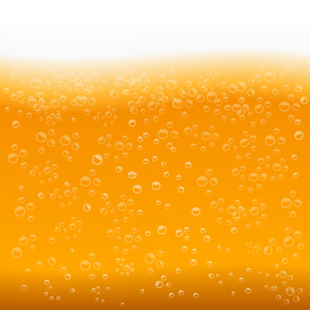 beer texture: Beer texture with bubbles and foam Illustration