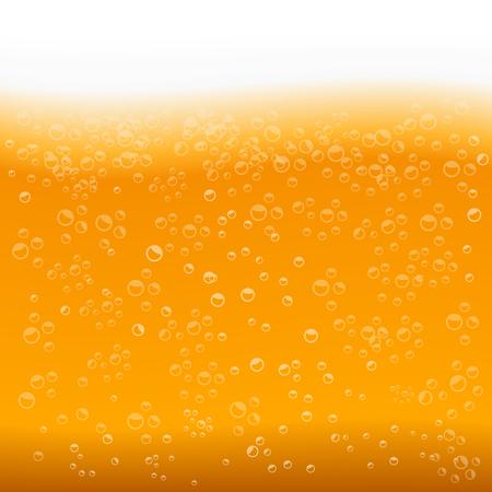 tessitura della birra con le bolle e schiuma Vettoriali