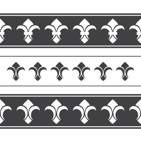 horizontal: Royal horizontal seamless borders Illustration
