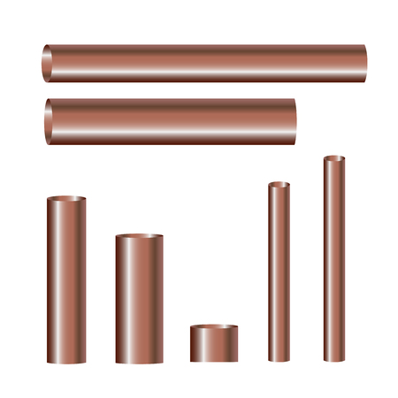 diameter: Copper pipes and hollow tons