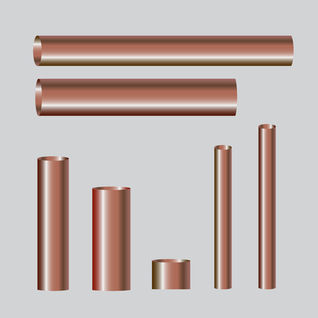 steel industry: Copper pipes and hollow tons