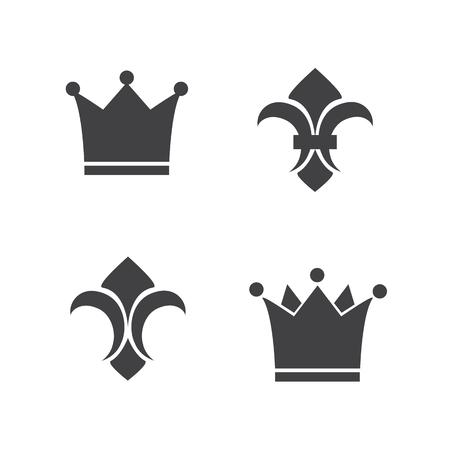 lis: Crown and fleur de lis icons Illustration