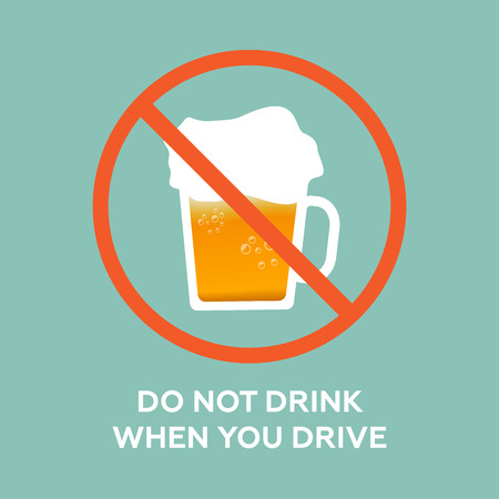 drink and drive: Do not drink when you drive Illustration