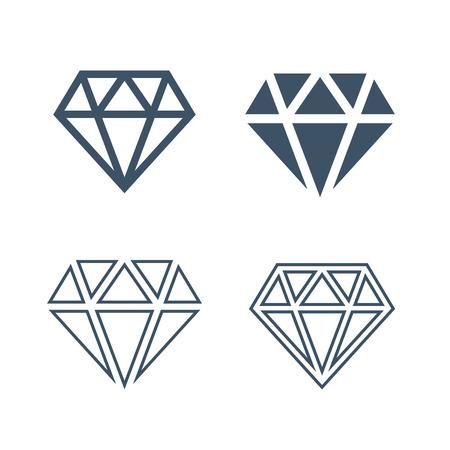 bijou: Diamond icons set Illustration