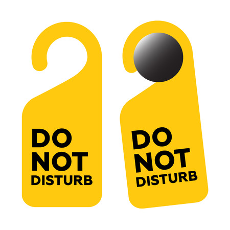 hotel room door: Do Not Disturb Door Sign