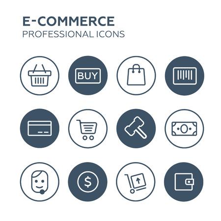 costumer: Shopping Icons Set vector illustration