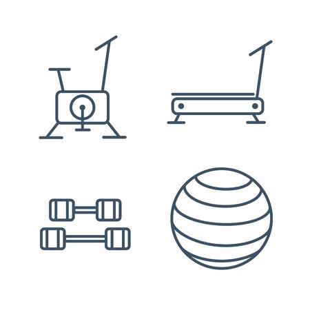 gym equipment: Fitness gym exercise equipment