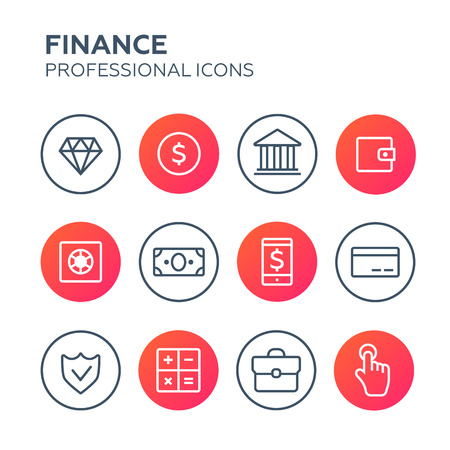 ecommerce icons: Vector illustration of original e-commerce icons Illustration