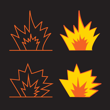 smoke effect: Cartoon explosion effect with smoke. Effect boom, explode flash, bomb comic Illustration